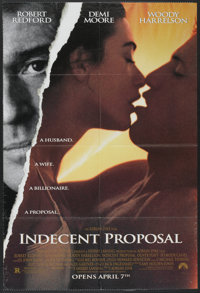 "Indecent Proposal (Paramount, 1993). One Sheet (27"" X 40""). Drama"