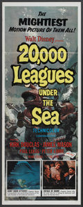 "Movie Posters:Science Fiction, 20,000 Leagues Under the Sea (Buena Vista, R-1971). Insert (14"" X36""). Science Fiction...."
