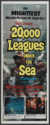 "20,000 Leagues Under the Sea (Buena Vista, R-1971). Insert (14"" X 36""). Science Fiction"