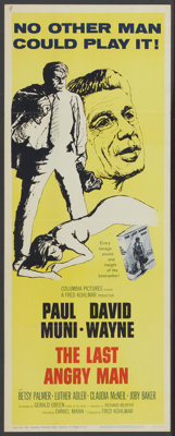 "The Last Angry Man (Columbia, 1959). Insert (14"" X 36""). Drama"