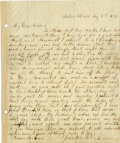 "Autographs:Celebrities, John Wilkes Booth Autograph Letter Signed ""John W. Booth"", 1 page, 8.5"" x 10"", ""Tudor Hall"" (the Booth family home i..."