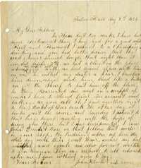 """John Wilkes Booth Autograph Letter Signed """"John W. Booth"""", 1 page, 8.5"""" x 10"""", """"Tudor Hall""""..."""