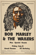 Music Memorabilia:Posters, Bob Marley & the Wailers Greek Theater/UC Berkeley ConcertPoster (Superb/Overland Productions, 1978). ...
