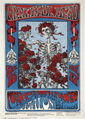 "Music Memorabilia:Posters, Grateful Dead ""Skeleton and Roses"" Avalon Concert Poster FD-26(Family Dog, 1966)...."