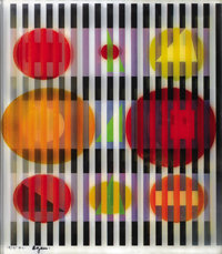 YAACOV AGAM (Israeli, b. 1928) Midnight Light Agamograph Ed. 13/25 H.C. Signed lower left: