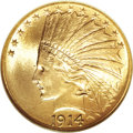 Indian Eagles, 1914 $10 MS65 NGC....