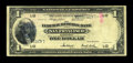 Error Notes:Large Size Errors, Fr. 743 $1 1918 Federal Reserve Bank Note Very Good....