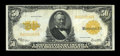 Large Size:Gold Certificates, Fr. 1200 $50 1922 Gold Certificate Very Fine-Extremely Fine....
