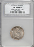 Coins of Hawaii: , 1883 25C Hawaii Quarter--Improperly Cleaned--NCS. Unc Details. NGCCensus: (4/606). PCGS Population (6/978). Mintage: 500,0...