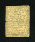Colonial Notes:Continental Congress Issues, Continental Currency February 17, 1776 $1/6 Very Good....