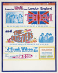 Music Memorabilia:Posters, Them/The Outsiders U.S.Tour Poster(1969). ...