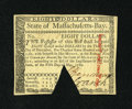 Colonial Notes:Massachusetts, Massachusetts May 5, 1780 $8 Choice New, COC....