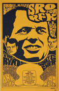 Music Memorabilia:Posters, The Byrds/Sonny and Cher SRO for RFK Robert Kennedy BenefitConcert Poster (1968)....