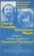 "Music Memorabilia:Posters, David Crosby and Graham Nash Paramount Northwest Seattle ConcertPoster (1973) 13.5"" x 22""...."