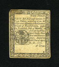 Colonial Notes:Pennsylvania, Pennsylvania April 10, 1777 4d Very Fine....