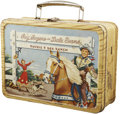 Memorabilia:Lunch Boxes, Roy Rogers and Dale Evans Double R Bar Ranch Metal Lunch Box (American Thermos Bottle Co., 1954)....