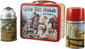 Memorabilia:Lunch Boxes, Wild Bill Hickok and Jingles Lunch Box with Two Thermoses (Aladdin Industries Inc., 1955)....