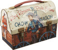 Memorabilia:Lunch Boxes, Roy Rogers and Dale Evans Chow Wagon Dome Top Lunch Box (AmericanThermos Products Co., 1958)....