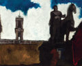 Fine Art - Painting, European:Contemporary   (1950 to present)  , ENZO ROBERTS (Italian, 20th Century). View of the Campidogliowith Equestrian Statue of Marcus Aurelius, Rome, 1966. Oil...