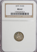 Seated Half Dimes: , 1873 H10C MS62 NGC. NGC Census: (12/66). PCGS Population (14/63).Mintage: 712,000. Numismedia Wsl. Price for NGC/PCGS coin...