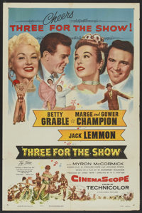 "Three for the Show (Columbia, 1954). One Sheet (27"" X 41""). Musical"