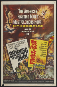 "The Smashing of the Reich/ Kamikaze Combo (Brigadier Film, 1962). One Sheet (27"" X 41""). Documentary"