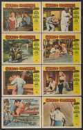 "Movie Posters:Adventure, Congo Crossing (Universal International, 1956). Lobby Card Set of 8(11"" X 14""). Adventure.... (Total: 8 Items)"