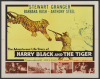 "Harry Black and the Tiger (20th Century Fox, 1958). Half Sheet (22"" X 28""). Action"