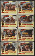 """Movie Posters:War, Paratrooper (Columbia, 1953). Lobby Card Set of 8 (11"""" X 14"""").War.... (Total: 8 Items)"""