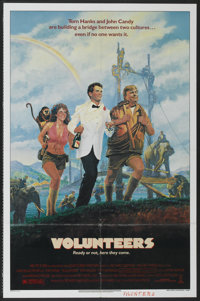"Volunteers (Tri-Star, 1985). One Sheet (27"" X 41""). Comedy"