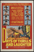 """Movie Posters:Documentary, Days of Thrills and Laughter (20th Century Fox, 1961). One Sheet (27"""" X 41"""") and Lobby Card Set of 8 (11"""" X 14""""). Documentar... (Total: 9 Items)"""