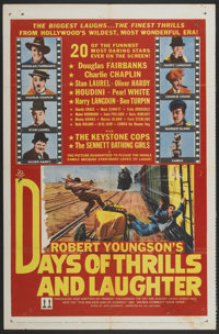 "Days of Thrills and Laughter (20th Century Fox, 1961). One Sheet (27"" X 41"") and Lobby Card Set of 8 (11""..."