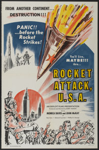 "Rocket Attack, U.S.A. (Trans American, 1959). One Sheet (27"" X 41"") and Lobby Card Set of 8 (11"" X 14&quo..."
