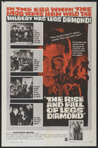 """The Rise and Fall of 'Legs' Diamond (Warner Brothers, 1960). One Sheet (27"""" X 41"""") and Lobby Card Set of 8 (11..."""