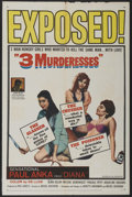 """Movie Posters:Comedy, Three Murderesses (20th Century Fox, 1960). One Sheet (27"""" X 41""""). Comedy...."""