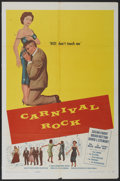 "Movie Posters:Rock and Roll, Carnival Rock (Howco, 1957). One Sheet (27"" X 41""). Rock andRoll...."