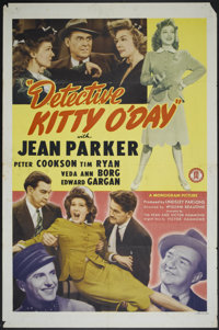 "Detective Kitty O'Day (Monogram, 1944). One Sheet (27"" X 41""). Mystery"