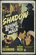 "Movie Posters:Crime, Behind the Mask (Monogram, 1946). One Sheet (27"" X 41""). Crime...."