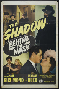 "Behind the Mask (Monogram, 1946). One Sheet (27"" X 41""). Crime"