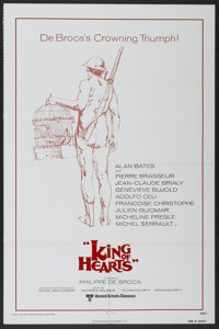 """King of Hearts (United Artists, R-1978). One Sheet (27"""" X 41""""). Comedy"""
