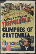 "Movie Posters:Documentary, FitzPatrick Traveltalk Stock Poster (MGM, 1942). One Sheet (27"" X 41"") ""Glimpses of Guatamala."" Documentary...."