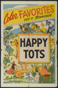 "Movie Posters:Animated, Color Favorites Stock Poster (Columbia, R-1950). One Sheet (27"" X41"") ""Happy Tots."" Animated...."