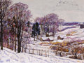 Paintings, NIKOLAI EFIMOVICH TIMKOV (Russian, 1912-1993). Pastoral Snow Scene, 1960. Oil on board. 19-1/2 x 26 inches (49.5 x 66.0 ...