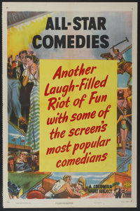 """All-Star Comedies (Columbia, 1950). One Sheet (27"""" X 41""""). Short Subject"""