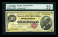 Large Size:Gold Certificates, Fr. 1178 $20 1882 Gold Certificate PMG Very Fine 25....