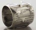 Silver Holloware, American:Napkin Rings, AN AMERICAN SILVER NAPKIN RING . Wood & Hughes, New York, NewYork, circa 1890. Marks: W&H, 383, S. 1-7/8 inches highx...