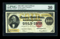 Large Size:Gold Certificates, Fr. 1211 $100 1882 Gold Certificate PMG Very Fine 30....