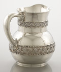 Silver Flatware, American:Tiffany, AN AMERICAN SILVER WATER PITCHER. Tiffany & Co., New York, NewYork, circa 1877. Marks: TIFFANY & CO., STERLINGSILVER,307...