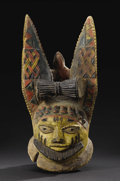 African: , Yoruba (Nigeria), Egba Area, Abeokuta City-state. Egungun Headdress with Large Ears. Wood, pigment, metal. Height: 15 ¼ ...