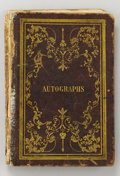 "Autographs:Military Figures, University of Virginia Autograph Book Signed by Mosby, 174 pages, 8vo (5.5"" x 8.5""), tooled gilt leather covers, 1851, publi..."